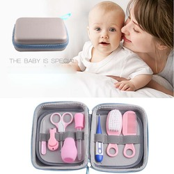 8pcs Baby Grooming Care Manicure Set Healthcare Kit Nail Hair Daily Nurse Tool Product