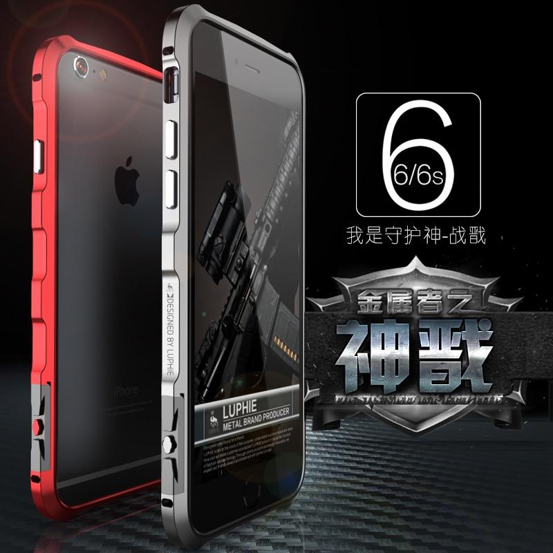 imágenes para LUPHIE para El Iphone 6 6 S Más 5.5 pulgadas de Metal Caso de Parachoques CNC Marco De Aluminio Del Avión de Coque de la Cubierta Fundas para IPhone6 4.7 pulgadas caso