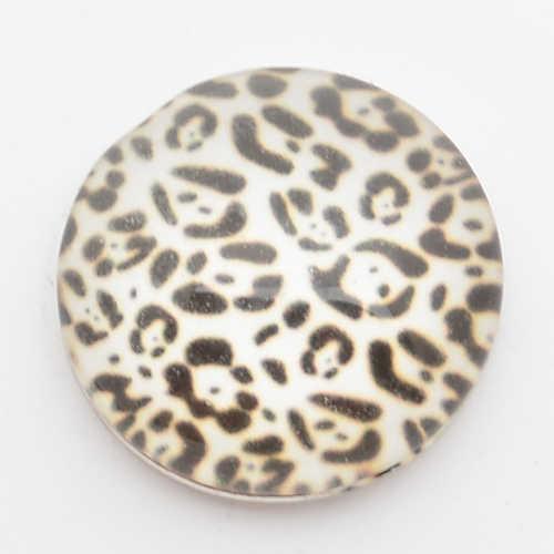 Czarny punkt 18 przyciski zatrzaskowe mm, druku i szklana pokrywa zatrzaski na zatrzaski bransoletki fit ginger snaps biżuteria NC1708