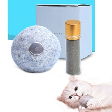 (5g/lot)with Wool Ball Toys Pet Cat Natural Catnip Treat Ball Favor Home Chasing Toys Healthy Safe Edible Treating Powder