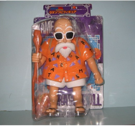 23cm Anime Dragon Ball Master Roshi PVC Action Figure Collection Model Toy GB031 free shipping anime dragon ball master roshi pvc action figure collection model toy 25cm orange new loose
