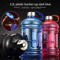 Gran capacidad de 2.2L botella de agua para deportes al aire libre gimnasio espacio medio galón entrenamiento de Fitness Camping Running entrenamiento botella de agua