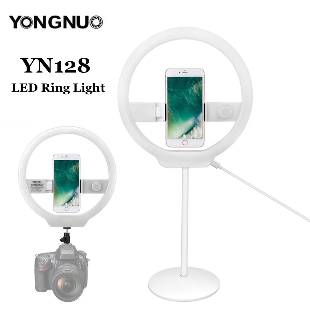 YONGNUO YN128 Portable Photography Bi-color led ring light for DSLR Camera Photo/Studio/Phone/Video LED 3200K-5500K Ring Lamp yongnuo yn128 yn 128 camera photo studio phone video 128 led ring light 3200k 5500k photography dimmable ring lamp