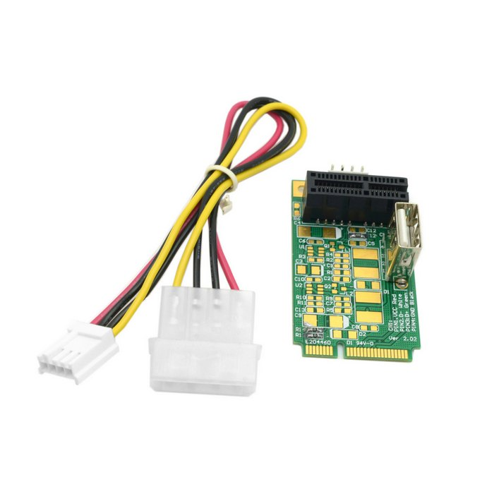 50pcs /lot Mini PCI-E PCI E to PCI-E Express 1X Extension Cord Adapter Card with USB Riser Card ,By Fedex DHL mini pci express to pci express adapter card with 3 2dbi antennas