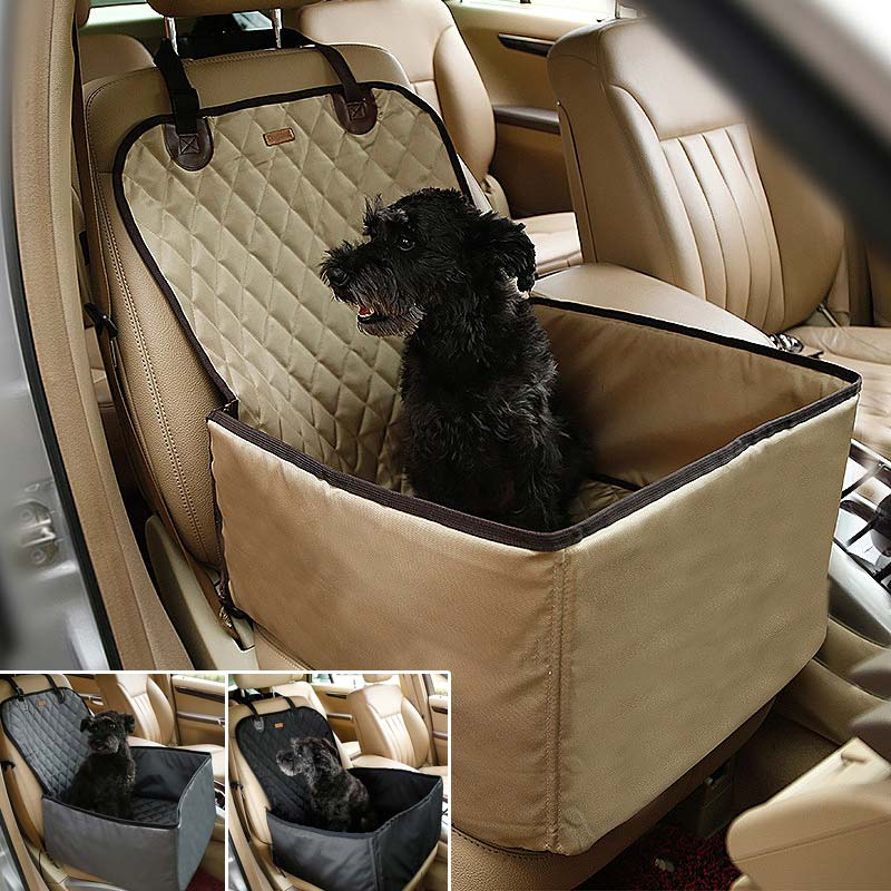 Waterproof Nylon Dog Pet Car Carrier Carry Storage Bag Booster Seat Cover 2 in 1 Carrier Bucket Basket J2Y