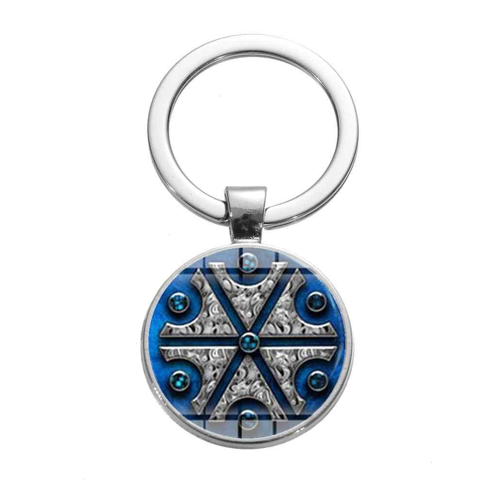 SIAN 2019 Новое прибытие славянские Thundermarks брелок для ключей из Perun изображения стекло кабошон автомобильный брелок аксессуары