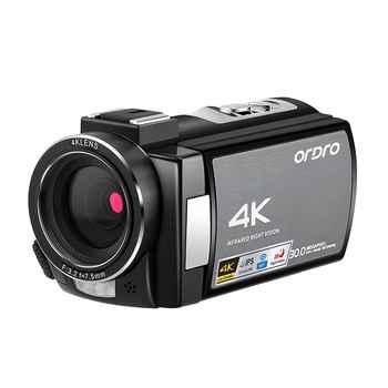 Ordro WIFI AE8 4K cámara de vídeo Digital Full HD pantalla táctil infrarrojo IR visión nocturna cámara fotográfica Profesional videocámara