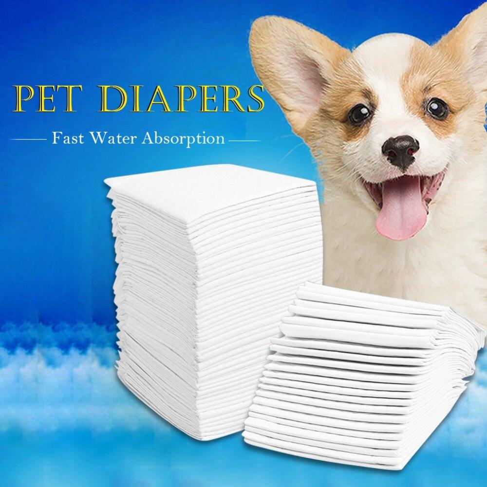 -Tamaño de perro mascota pañales Super absorbente para mascotas perro mear almohadilla de pañal antibacteriano perro pañal limpieza suministros