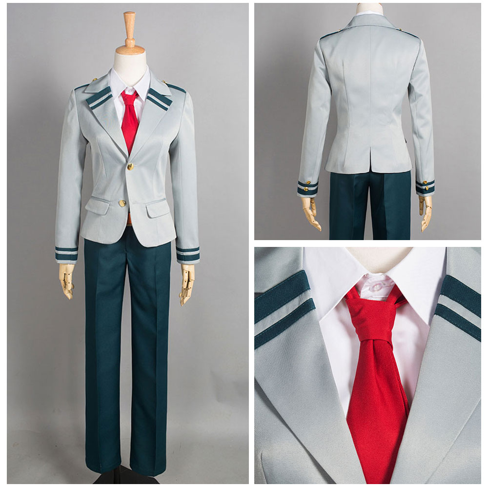 My Hero Academia Baku no Hero Acade Izuku Cosplay Costume Tie Boy's School Suit