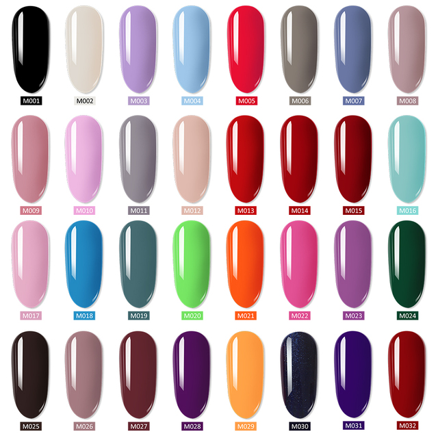 MORDDA 8 ML Gel Polish UV LED Nail Varnish For Manicure 60 Colors Gel Lacquer Semi Permanent Gel Paint Nail Art DIY Design Tools 1