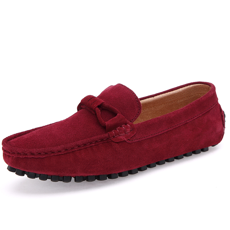 Big Size Comfortable Flock Men Shoes Casual Flats Full Grain   Leather   Shoes Anti Slip Mens Shoes size 46