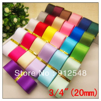 6 8 20mm SATIN RIBBON WEDDING PARTY TABLE ANNIVERSARY CAKE FLOWER DECORATING Fashion Accessories 25 color