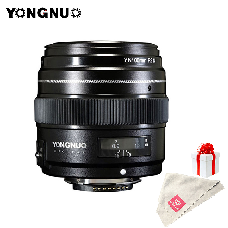 YONGNUO 100mm Lentille F2N AF/MF Grande Ouverture Standard Moyen Téléobjectif Premier Focale Fixe YN100mm Objectif pour Nikon d7200 D7100 D5600