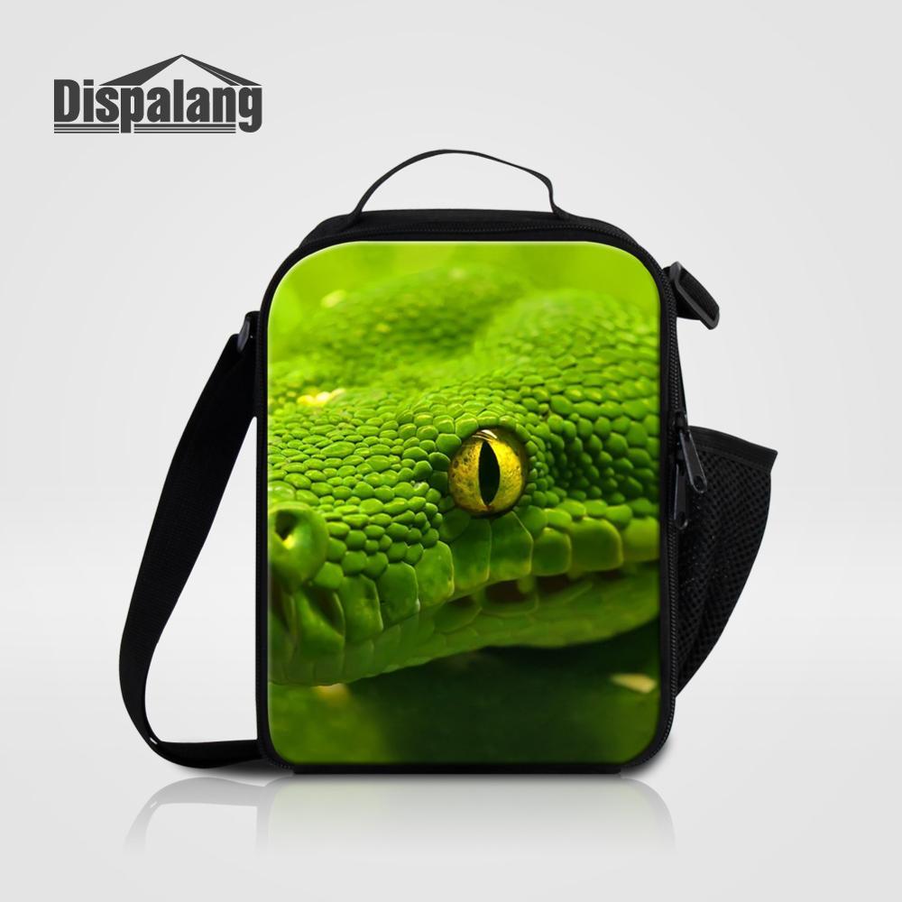 Мужские Термо-холщовые сумки для ланча, лисы, волка, динозавра, змеи, для мальчиков, сумка-холодильник для еды, пикника, Детская маленькая сумка-Ланч-бокс на молнии для школы - Цвет: Lunch Bag02