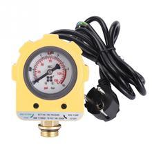 Переключатель контроля давления 220 В, 10 бар, блок контроллера давления, электронный переключатель для водяного насоса, европейская вилка
