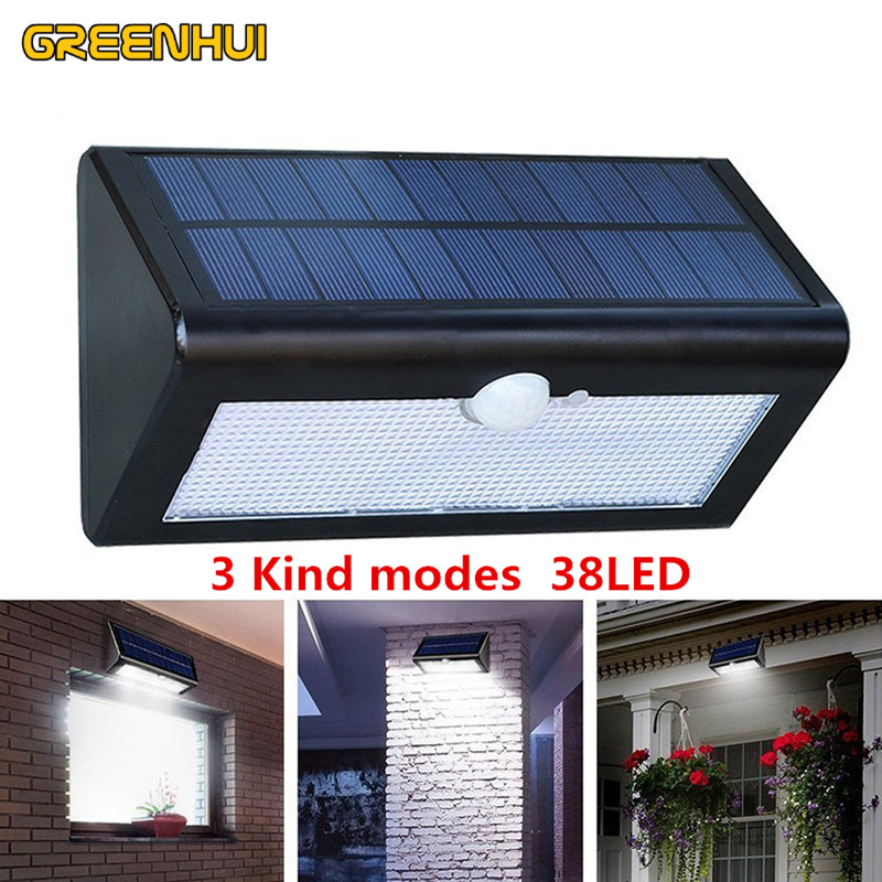 38leds Waterproof Solar Ed Outdoor Motion Sensor Detector Wall Light Path Garage Patio Lighting Security Night Lights Lamp