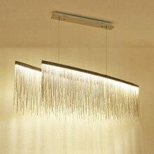 Люстра для гостиной современный светодиодный ресторан люстра вилла Clubhouse освещение Креативный дизайнер модель комнаты цепь свет