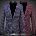 Brand men's clothing striped plaid pattern bussiness casual blazer 2016 Autumn&Winter new arriavl fashion slim men blazer M-6XL