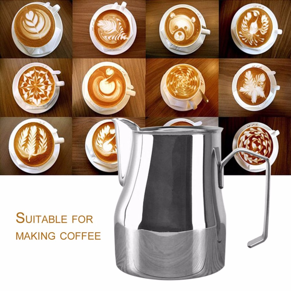 цена на 750ml Fantastic Milk Craft Frothing Jug Espresso Coffee Pitcher Barista Craft Latte Milk-frothing Jug Stainless Steel Pitche'r