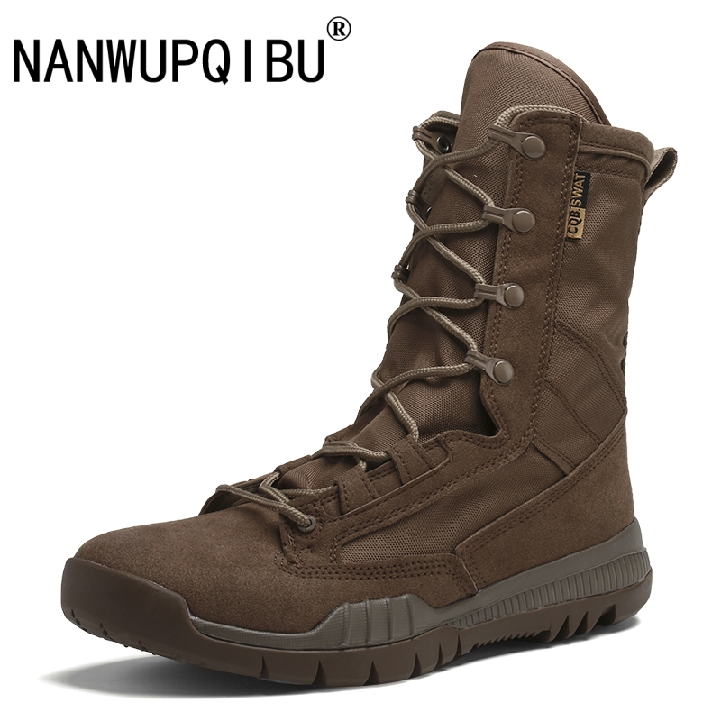 Outdoor Tactical Boots Military Boots Men s Desert Boots Lightweight Breathable High Top Mens Boots Wear