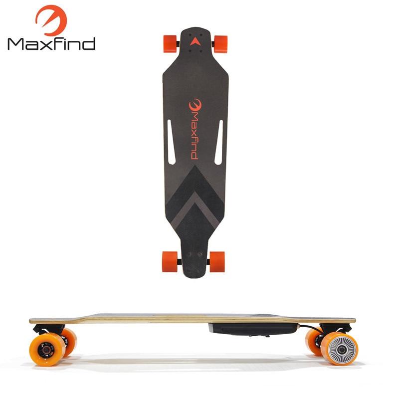 Maxfind Pas Cher Quatre Roues RC Électrique skateboard cruiser avec Unique Moteur sur Grande Vente