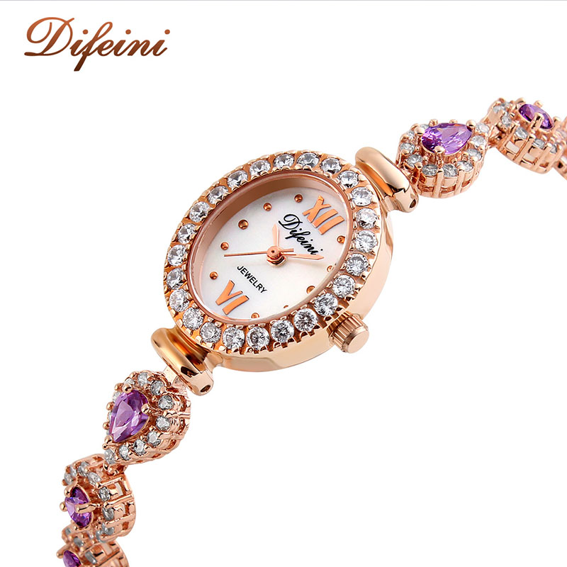 Hot Sale Difeini 2017 New Luxury Women Watches Quartz Diamonds Dress Ladies Watch Women Stainless Steel relogio feminino xfcs new luxury brand dqg crystal rosy gold casual quartz watch women stainless steel dress watches relogio feminino clock hot sale