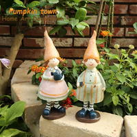 2018 NEW Fine workmanship Spiky hat elf,couple forest ornaments in the garden,wedding ornaments decoration ornaments
