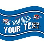 Oklahoma City Thunder YOUR TEXT Flag 3ft X 5ft Polyester NBA Banner Flying Size No 4