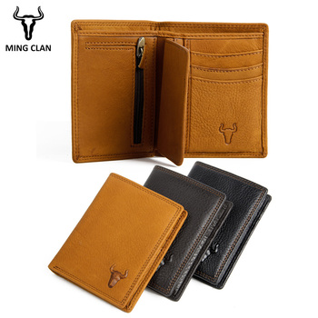 Genuine Leather Brand Men Wallets Design Short Small Wallets Male Mens Purses Card Holder Carteras With Zipper Coin Pocket Purse brand genuine leather passport holder men wallet with passport pocket coin pocket multiple id card holder men wallets purses