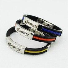 Naruto Bracelets Titanium Steel Silicone color
