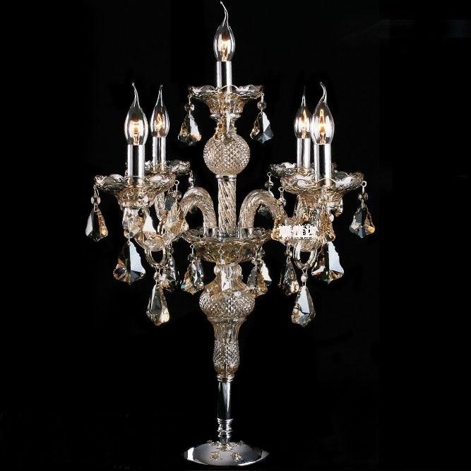 Роскошные импортные цвет кристалл настольные лампы и Европейский стиль гостиная спальня ночники lu809181