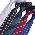 Corbatas de regalo de 7 cm para hombre, vestidos de boda de negocios, vestido para hombre, legame gravata, Inglaterra, rayas JACQUARD tejido
