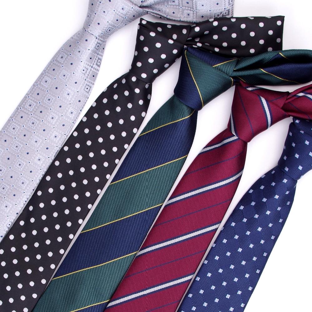 Men Ties 7cm Gift Necktie Men's Vestidos Business Wedding Tie Male Dress Legame Gravata England Stripes JACQUARD WOVEN