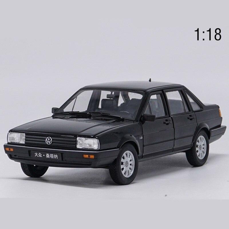 Haute simulation 1:18 Volkswagen Santana, 1:18 échelle en alliage modèle de voiture, pièces moulées en métal jouet de collection de véhicules, livraison gratuite