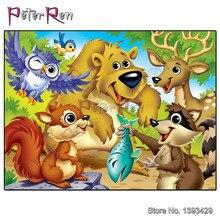 5D DIY Diamond Painting Cartoon Animal Full Embroidery Cross stitch Wall Sticker Home Decor Little bear eagle squirrel
