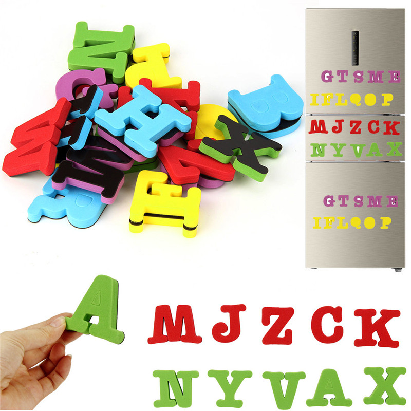 CIKOO 2018 26 букв ЕВА магнит на холодильник Малыш Детские развивающие игрушки для ванной игрушки елочные игрушки челнока P20