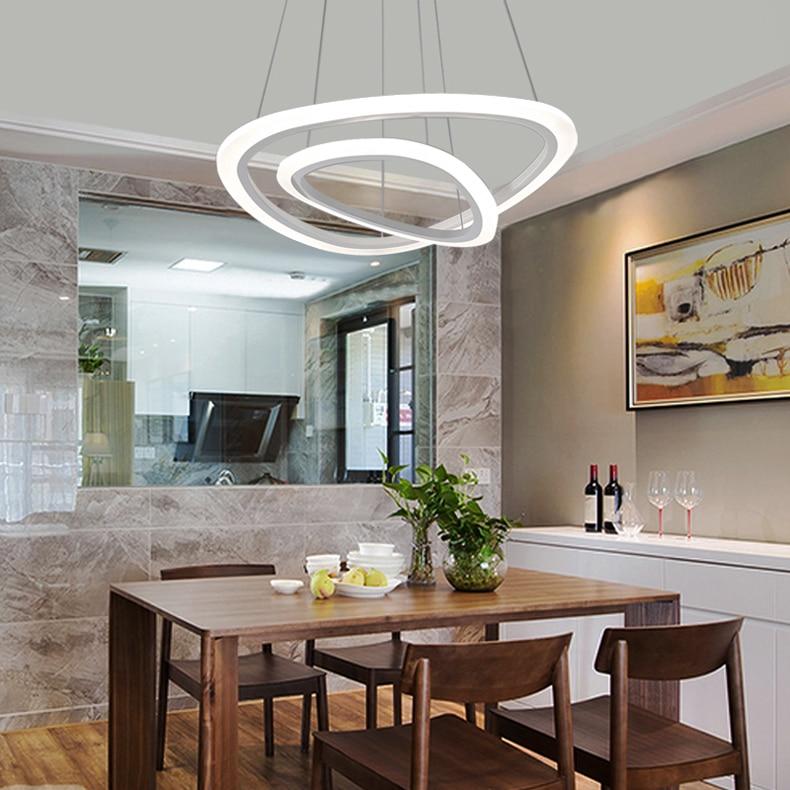 HTB1Si88arZnBKNjSZFrq6yRLFXaU New Modern pendant lights for living room dining room 4/3/2/1 Circle Rings acrylic LED Lighting ceiling Lamp fixtures