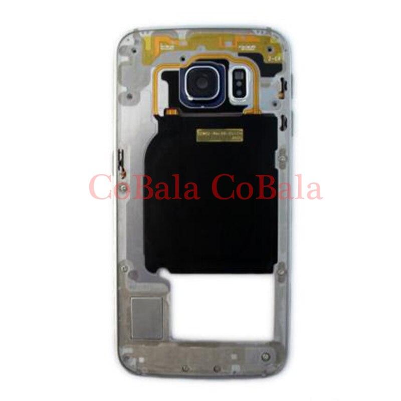 1 Pcs Pour Samsung Galaxy S6 Bord G925 G925F G925T Logement LCD Affichage Moyen Cadre Midframe Lunette Châssis Plaque Assemblée