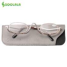 160088eed SOOLALA المعادن إطار كليب ماكياج القراءة نظارات الرجال والنساء أفضل الهدايا  لعيد الأم طويل النظر نظارات gafas دي lectura