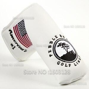 Image 3 - Nova eua americano no.1 bandeira longo lifetree branco golf putter capa headcover encerramento para lâmina taco de golfe frete grátis