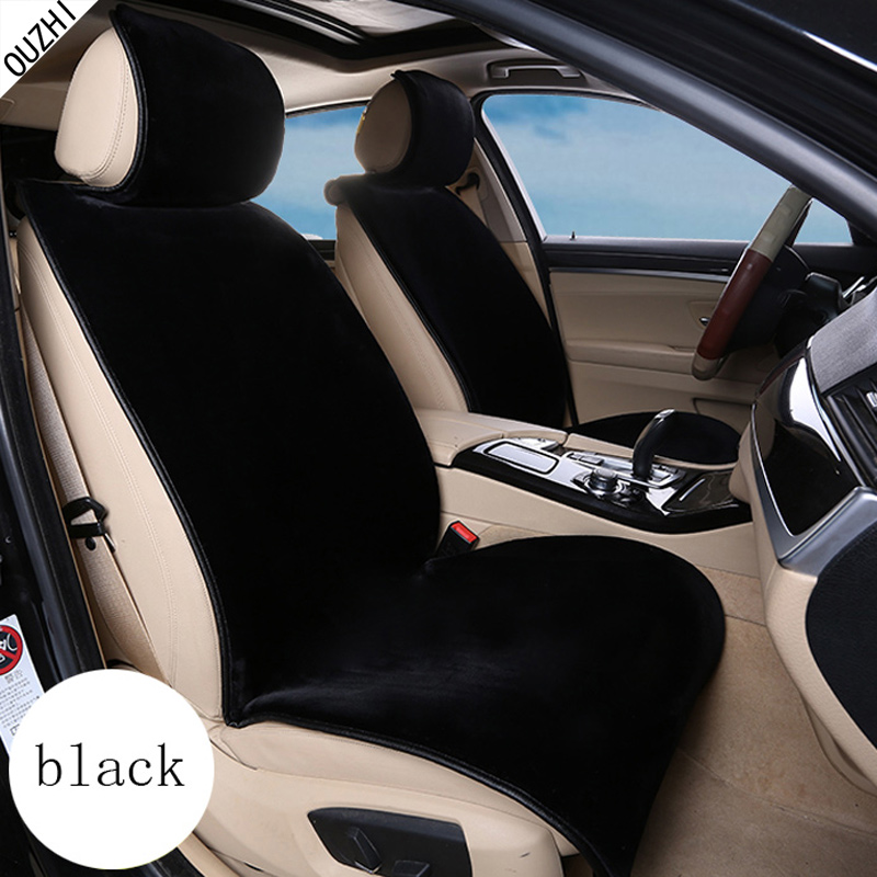 ouzhi keep warm plush car seat covers universal front rear full seat fur car interior. Black Bedroom Furniture Sets. Home Design Ideas