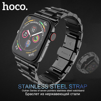HOCO Brand Stainless Steel Strap for Apple Watch Series 1 2 3 4 Band Metal Butterfly Buckle Bracelet for iWatch 42/44mm 38/40mm
