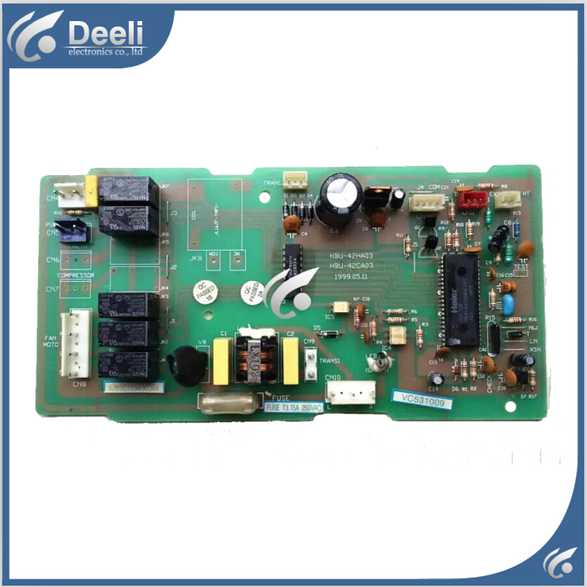 95% new good working for air conditioning board HBU-42HA03 0600403 circuit board 95% new for haier refrigerator computer board circuit board bcd 198k 0064000619 driver board good working