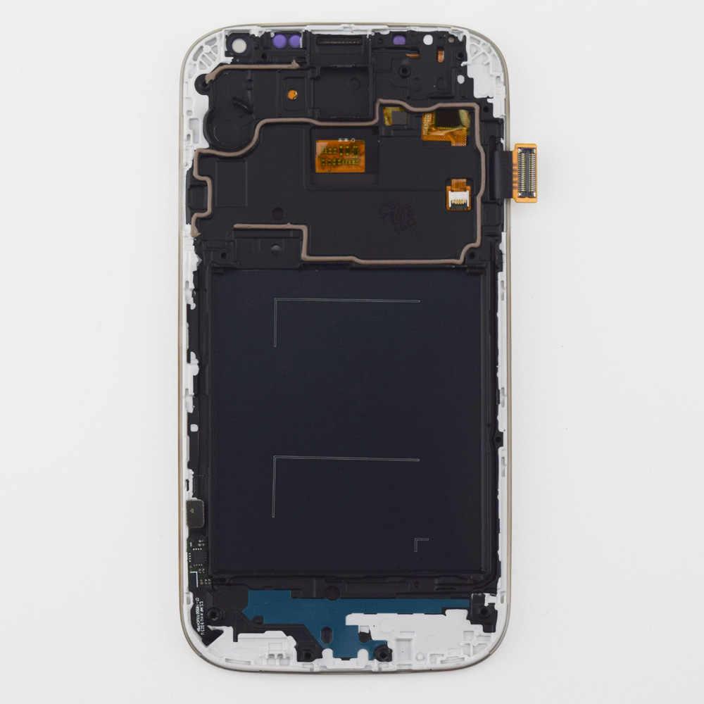 شاشة الكريستال السائل + محول الأرقام بشاشة تعمل بلمس الاستشعار الجمعية + إطار لسامسونج غالاكسي S4 i9500 i9505 i337 919 720T L720