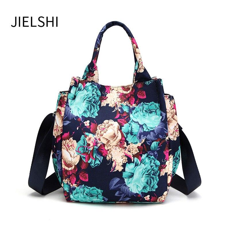 Fashion Color Printing MINI Women Handbags Wear-resistant Breathable Female  Nylon Messenger Bags Small Lightweight Tote Bag 96831abcdb328