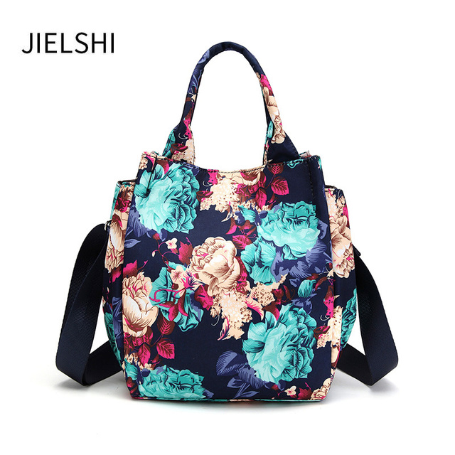 Fashion Color Printing Mini Women Handbags Wear Resistant Breathable Female Nylon Messenger Bags Small Lightweight
