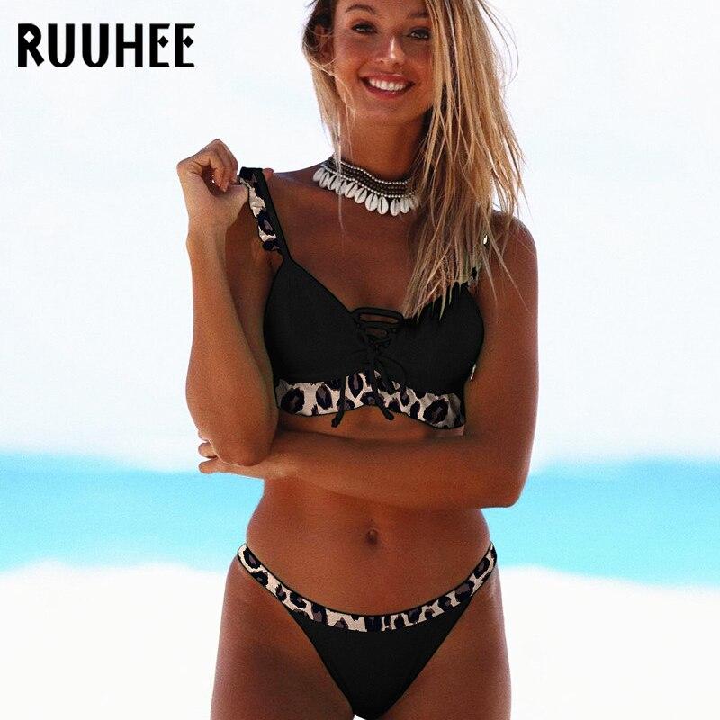 RUUHEE Push-Up Bikini Swimwear Women Swimsuit Brazilian Summer Bathing-Suit Beach-Wear