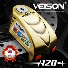 VEISON 120dB Motorcycle Alarm Lock Waterproof Anti theft Bike Wheel Disc Electric Lock 6mm Pin MTB Warning Security Brake Lock