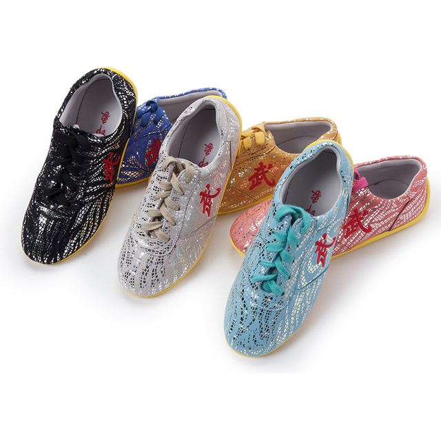 Wushu Tai Chi Shoe,  Soft Tendon At The End Of The Super Fiber Leather  Martial Art Shoes, Children adult kungfu Shoe