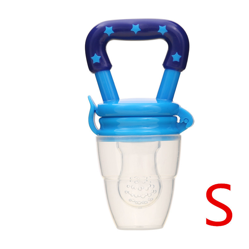 Детская соска для свежего питания, соска для кормления детей, соска для кормления фруктов, безопасные соска, бутылочки - Цвет: BlueS